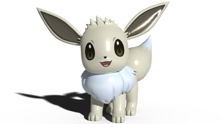 A shiny Eevee that is actually shiny by kuby64