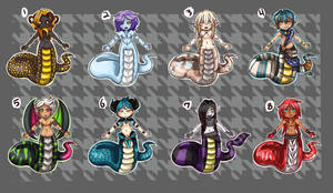ADOPTABLES! Naga August 2017 (CLOSED!!) by Ethelbutt