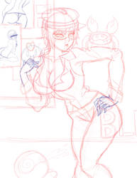Akumi Spy Redo sketch by treetops3636