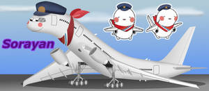 Sorayan, the Osaka airport mascot, as a 777 by WindyThePlaneh