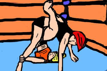 Jeannie Wrestling24 by ccrgameman