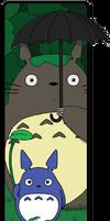Totoro Bookmark 2 by keicea