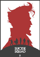 Suicide Squad Redesign Poster by lewisdowsett