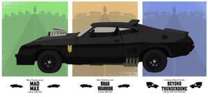 Mad Max Trilogy Minimalist Poster by lewisdowsett