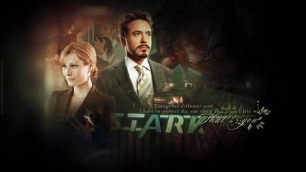 Iron Man - Tony Stark and Pepper Potts by kienerii
