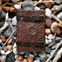 travelling witch journal - small size by MilleCuirs