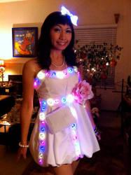 LED Party Dress by cherryteagirl