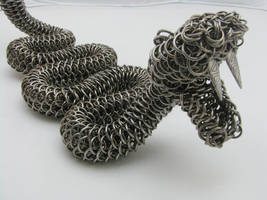 Rattler Maille Sculpture3 by BorealisMetalWorks
