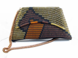 Maille purse front view. by BorealisMetalWorks