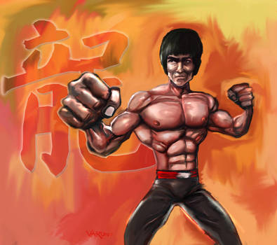 Bruce Lee by runninkool