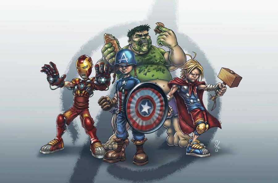 School Yard Avengers by DazTibbles