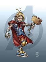 School Yard Thor by DazTibbles
