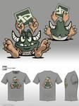 Fwuffy Tshirt Design by DazTibbles
