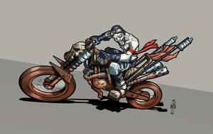 War Boy Biker by DazTibbles
