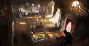 Assassins creed Unity : Luxembourg ballroom by nachoyague