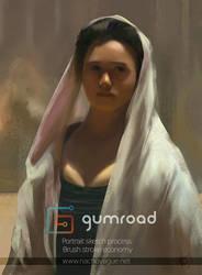 Woman sketch . Gumroad Tutorial by nachoyague