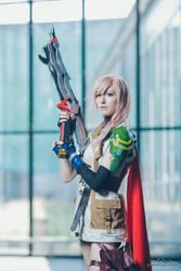 Lightning cosplay - On guard. by cyberlight