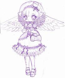 Saika Chibi Sketch 2 by YamPuff