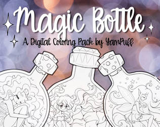 Magic Bottle ::Digital Coloring Pack by YamPuff:: by YamPuff