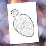 Fairy in a Bottle ::FREE Lineart:: by YamPuff