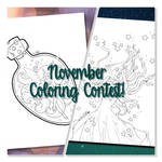 November Coloring Contest and Giveaway by YamPuff