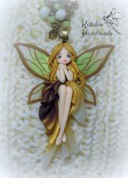 Polymer clay OOAK Fairy by KatalinHandmade