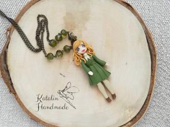 Katalin Handmade polymerclay fimo chibi ooak doll  by KatalinHandmade