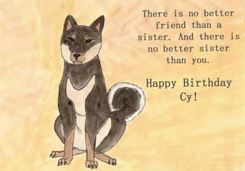 Cy's Birthday Shinu Inu by NatefanA98