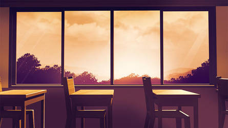 Back to basics 23: Classroom BG Afternoon by anirhapsodist