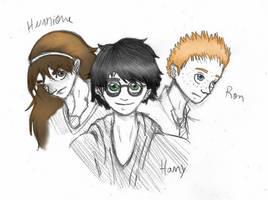 The Golden Trio by tieknots