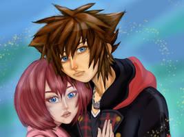 KH3 Sora and Kairi by SpookyDonuts