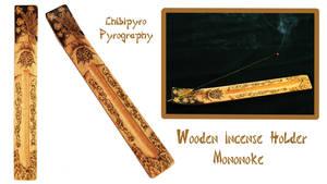 Wooden incense holder Mononoke by ChibiPyro