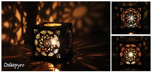 Hardboard Lantern Mandala by ChibiPyro