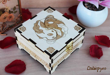 Wooden Box Koi Fishes by ChibiPyro