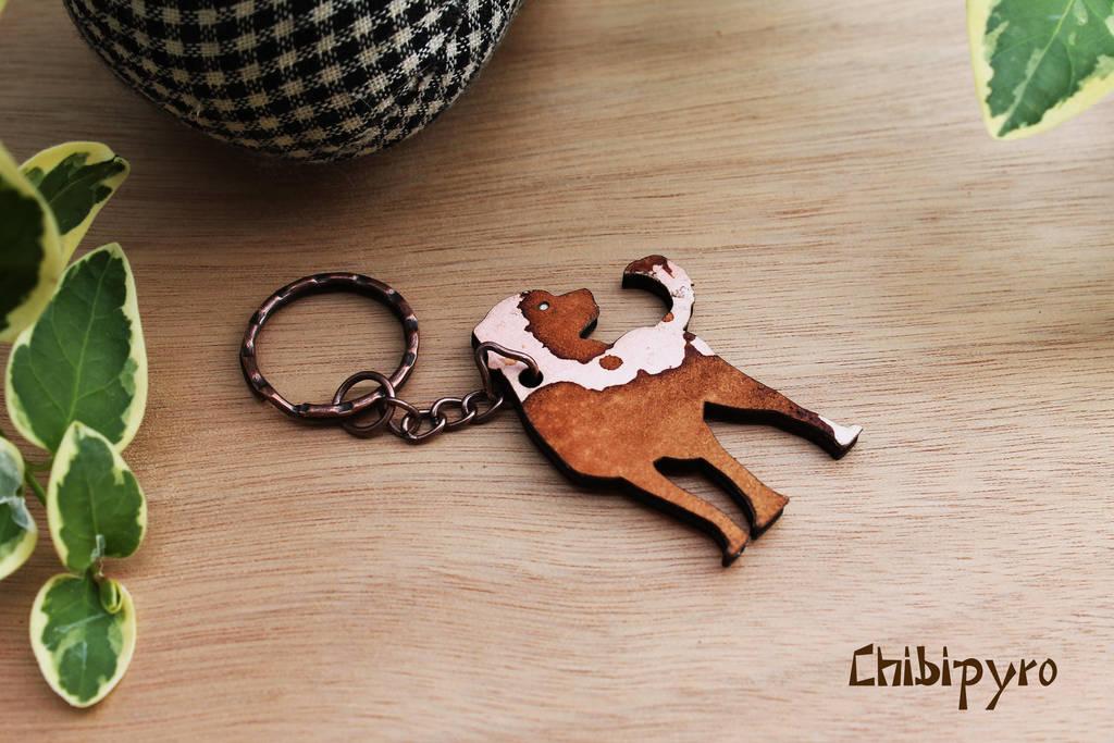 Painted Dog Keychain by ChibiPyro