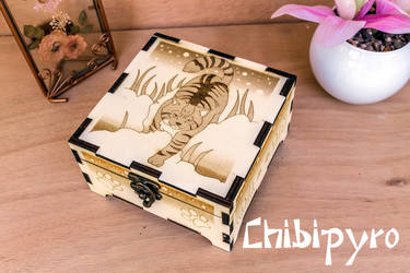 Wildcat Wooden Box by ChibiPyro