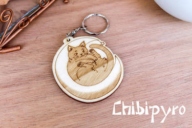 Moon Cat Keychain by ChibiPyro