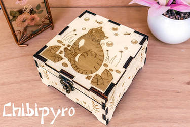 Firefly Cat Wooden Box by ChibiPyro