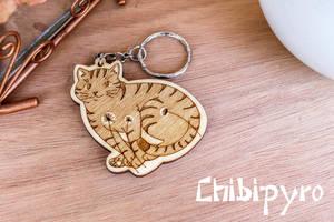 Dandelion Cat Keychain by ChibiPyro