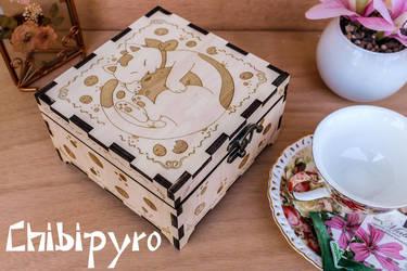 Cookie Cat Tea Box by ChibiPyro