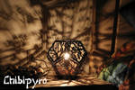 Tree branches wooden lamp by ChibiPyro