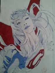 Supergirl Pop Art Ink by SinLikeUMeanIt