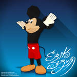 FanArt - Low Poly - Mickey Mouse - HAH HAH! by ErikServin