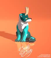 The calmed beast - Minimalist version by ErikServin