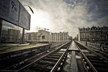 Paris railroad landscape by MatzeMat