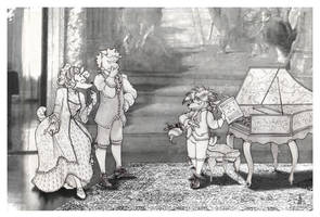 The Harpsichord Teacher by TheStrangeThing