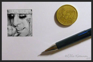 Poker Face Miniature by eeella