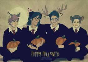 Happy Halloween by scribblerian
