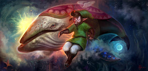 Link and the Wind Fish by kedemel