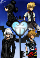 Kingdom Hearts FanArt (colored) by Jefra